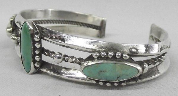 Navajo Bracelet, Sterling & Turquoise