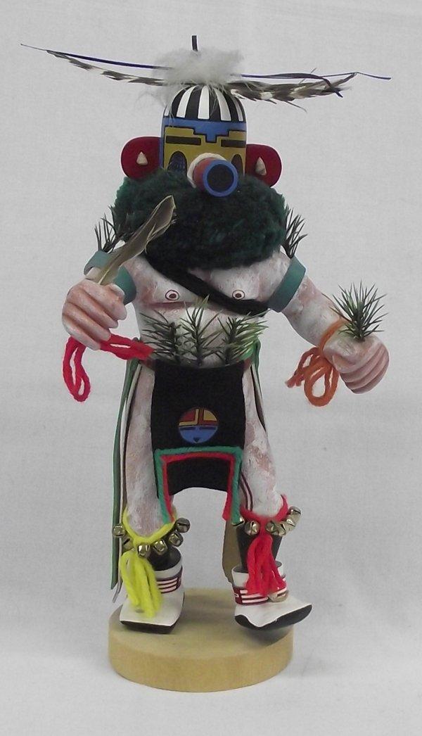 Zuni Tewa Ka'e ''Corn Dancer'' Kachina by W. Paquin
