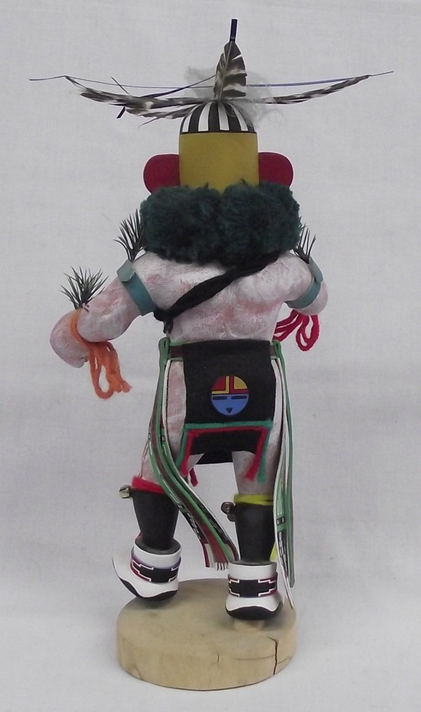 Zuni Tewa Ka'e ''Corn Dancer'' Kachina by W. Paquin - 3