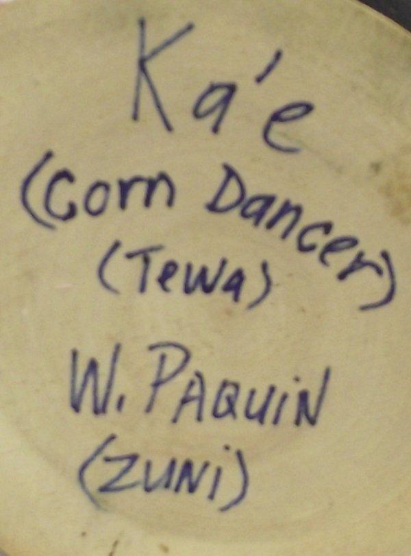 Zuni Tewa Ka'e ''Corn Dancer'' Kachina by W. Paquin - 4