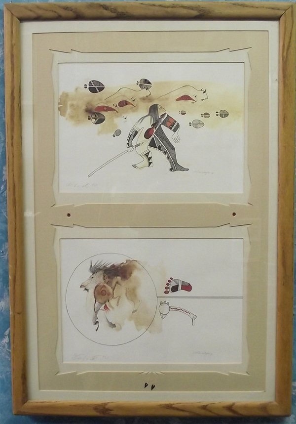 Framed, Matted & Hand Signed C.F. Lovato Prints