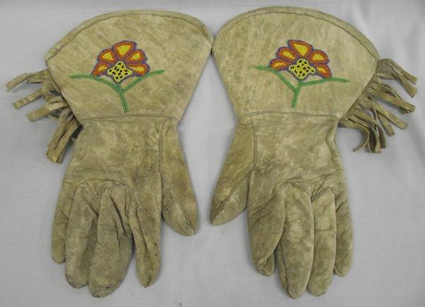 Vintage Native American Beaded Gauntlets