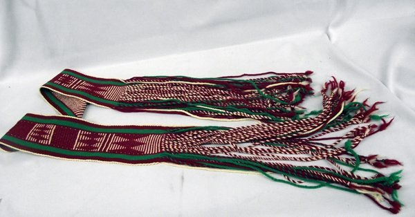Navajo Hand Woven Ceremonial Fringed Dance Sash