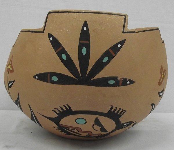 1999 Taos Micaceous Clay Bowl by A. Varos
