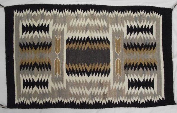 Navajo Traditional Two Grey Hills Rug