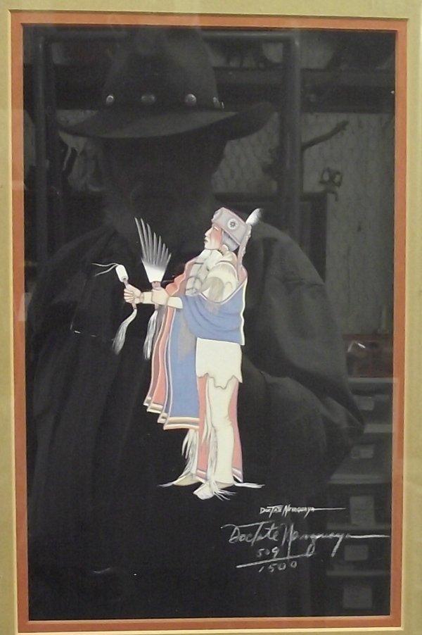 Framed & Matted Doc Tate Nevaquaya Signed Print