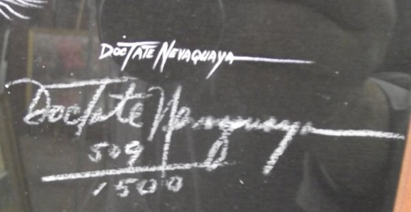 Framed & Matted Doc Tate Nevaquaya Signed Print - 3