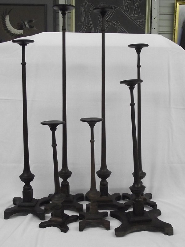Seven Antique Wooden Hat Stands - 2
