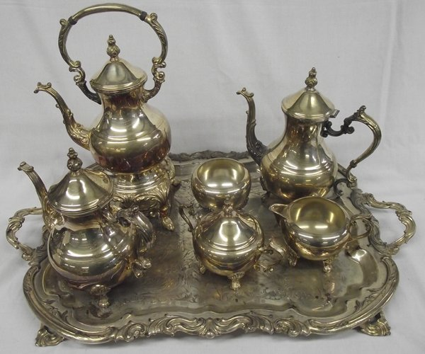 L.B. Rogers Co. Silver Plate Tea & Coffee Service