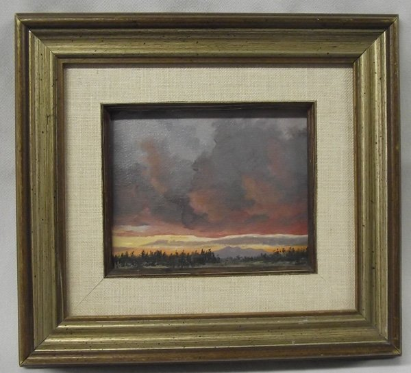 Original Oil ''Little Bitty Sunset'' by Shackleford