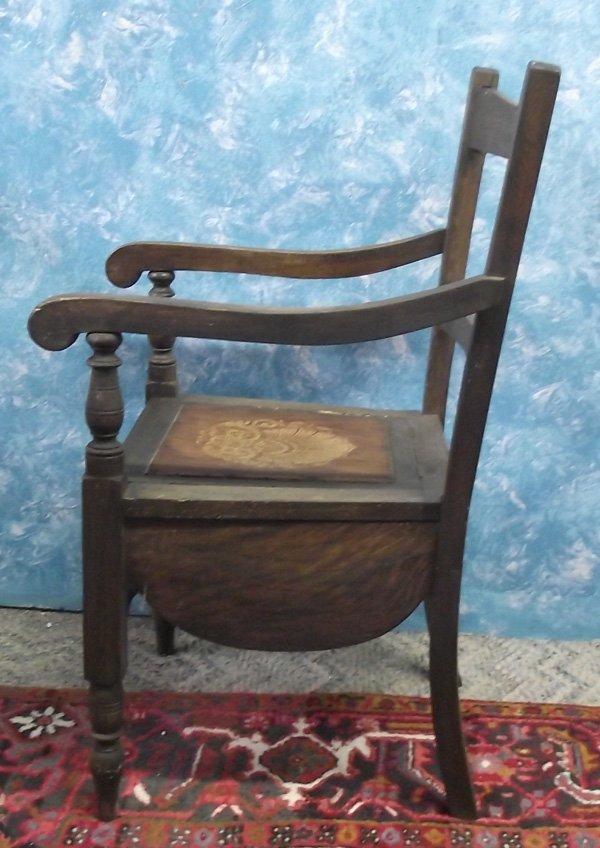 Antique Wooden Chamber Pot Chair Mbpu Lot 1116