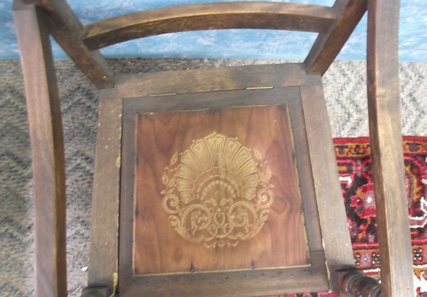 Antique Wooden  Chamber Pot Chair MBPU - 5