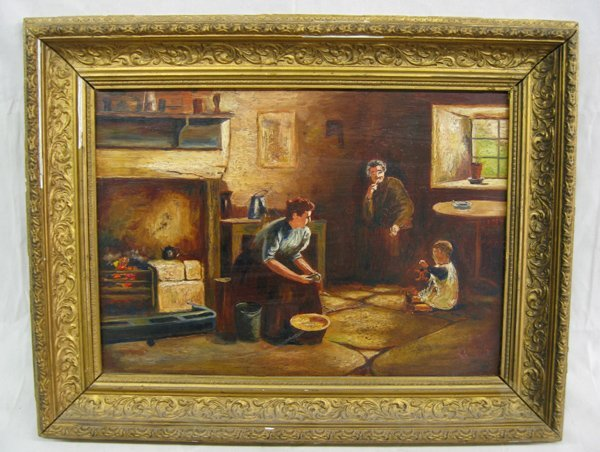 Antique Oil Painting on Board  by W. Aldows