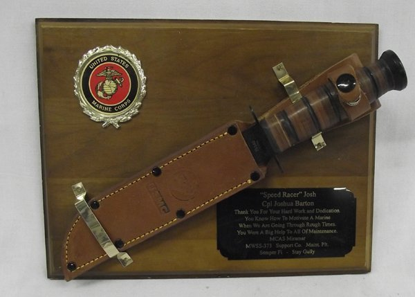 USMC Commemorative K-Bar Knife in Sheath