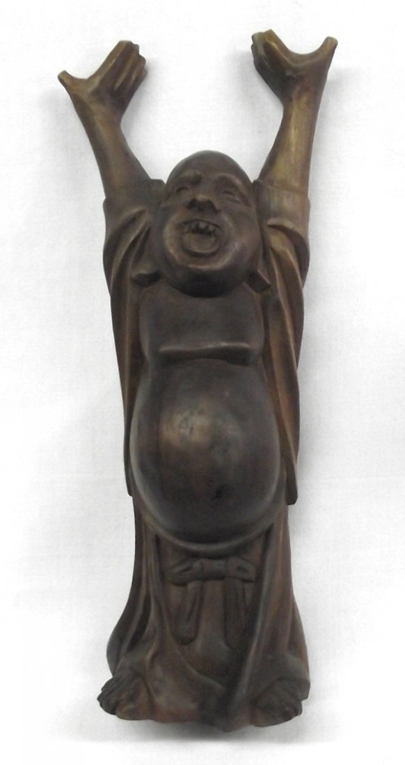 Vintage Carved Wooden Budda Figure
