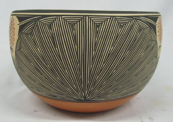 Zia Acoma Eye Dazzler Pottery Bowl by Shije