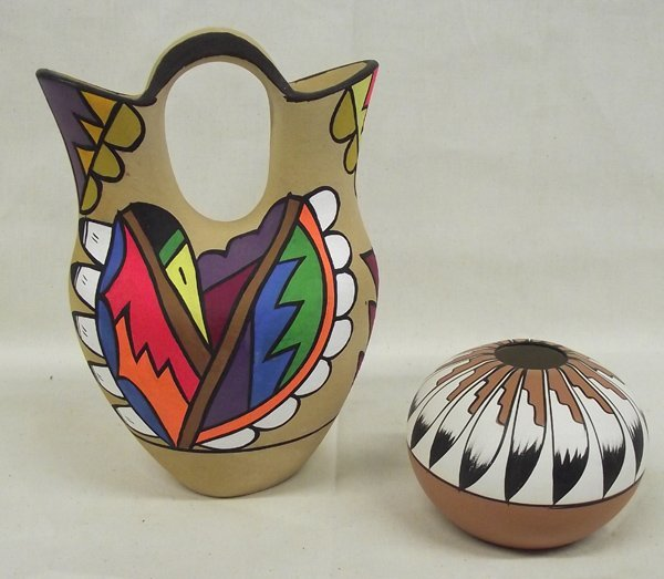 Pr  Jemez Pottery by artists Gachupin & Sabaque