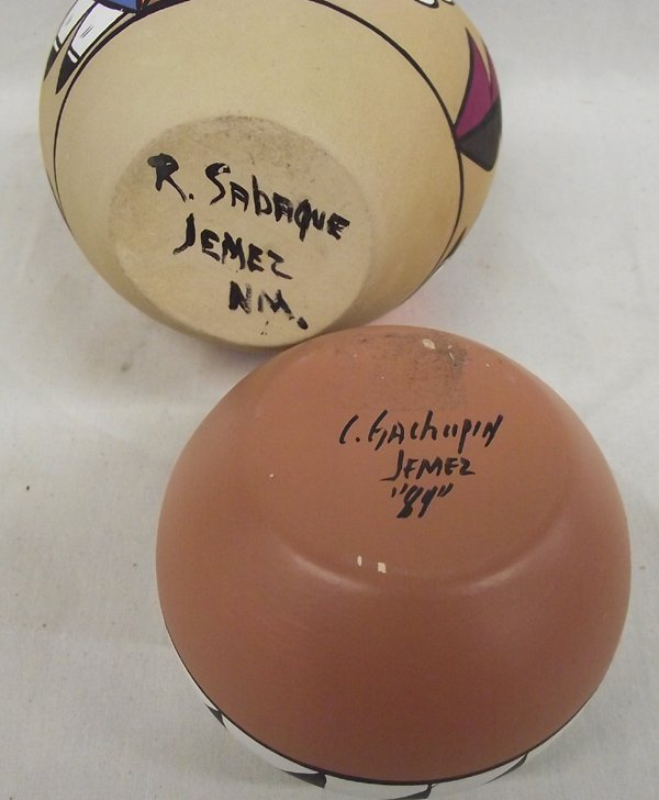 Pr  Jemez Pottery by artists Gachupin & Sabaque - 2
