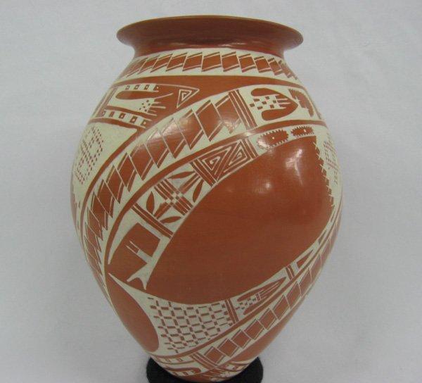 Mata Ortiz Geometric Pottery Jar by Yolanda Soto