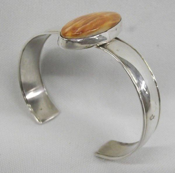 Navajo Sterling Spiny Shell Bracelett - Ida McCray