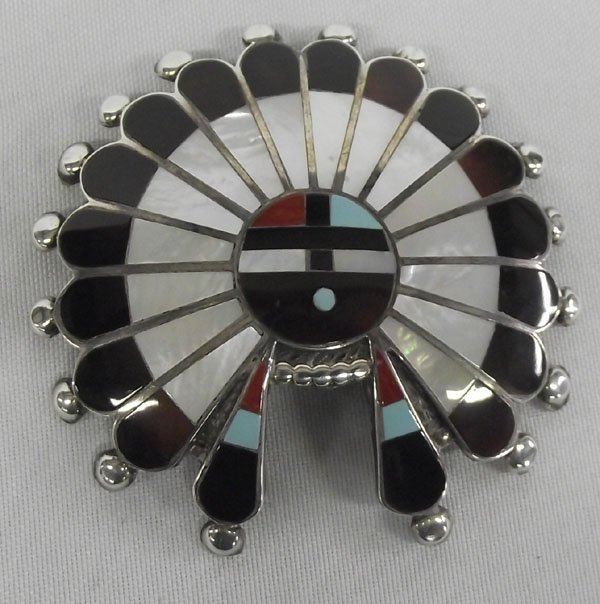 Zuni Sterling Inlay Buckle