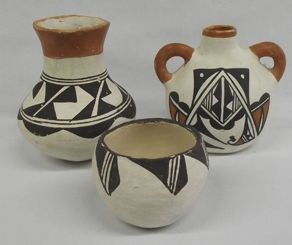 Three Pieces Acoma Pottery
