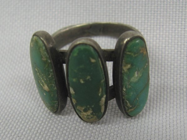 Antique Navajo Pawn Sterling & Turquoise Ring