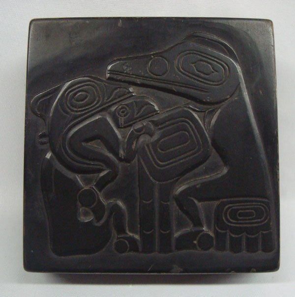 Vintage Northwest Coast Carved Lidded Box