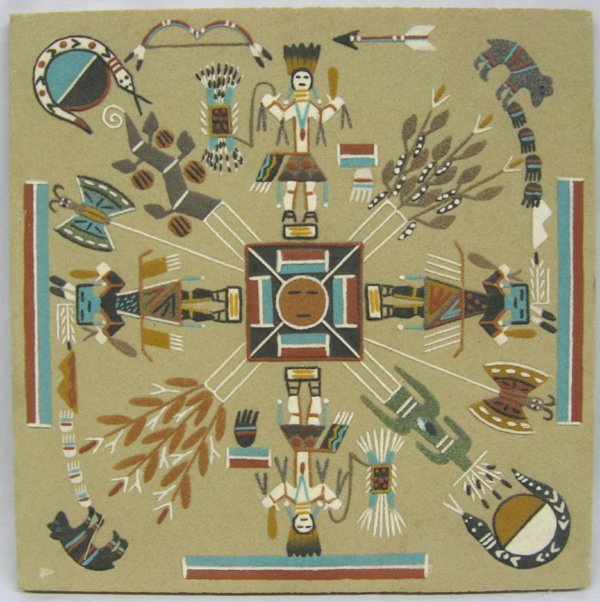 Navajo Sand Painting Home of the Bear and Snake
