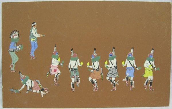 Original Yei-Bi-Chei Dancers Painting by Secatero