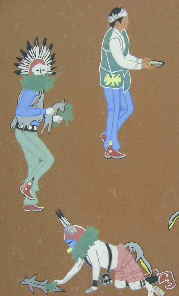 Original Yei-Bi-Chei Dancers Painting by Secatero - 2