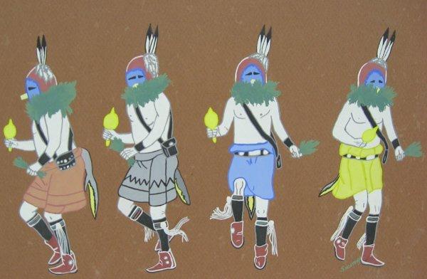 Original Yei-Bi-Chei Dancers Painting by Secatero - 3