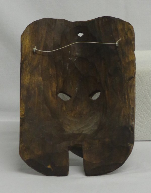 Mexican Carved Wooden Owl Snake and Face Mask - 3