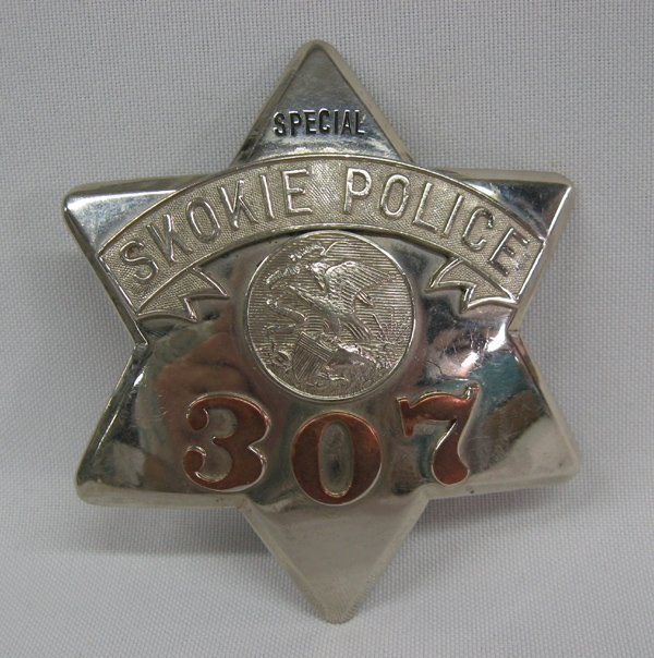 Authentic Special Skokie Police Badge