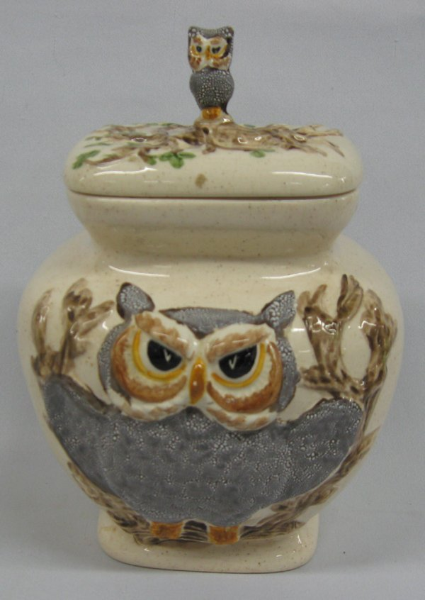 Rare Vintage Owl Canisters by Betty St. John  MBPU - 2