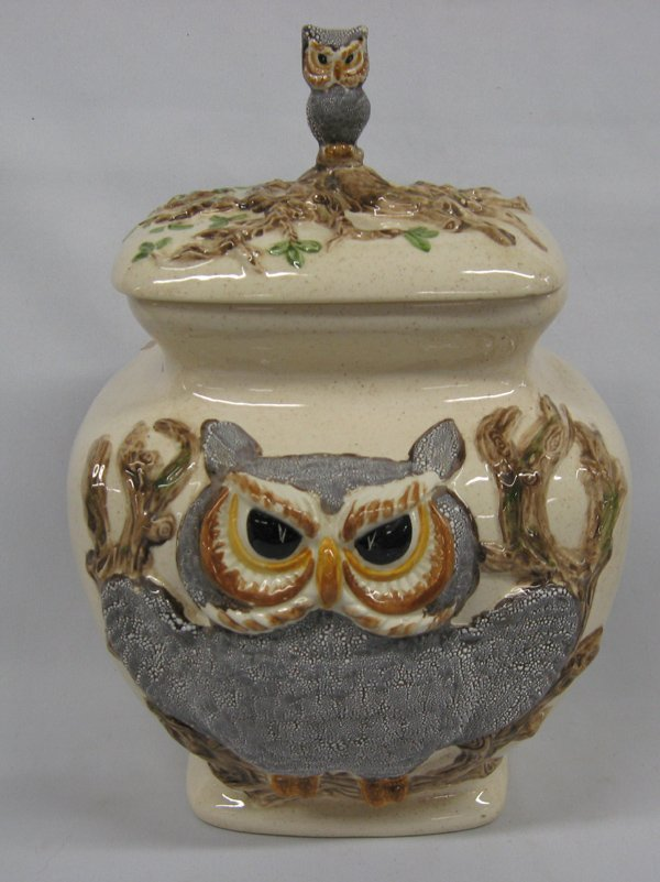 Rare Vintage Owl Canisters by Betty St. John  MBPU - 4