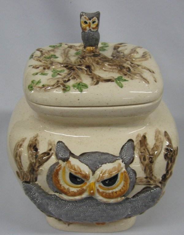 Rare Vintage Owl Canisters by Betty St. John  MBPU - 7