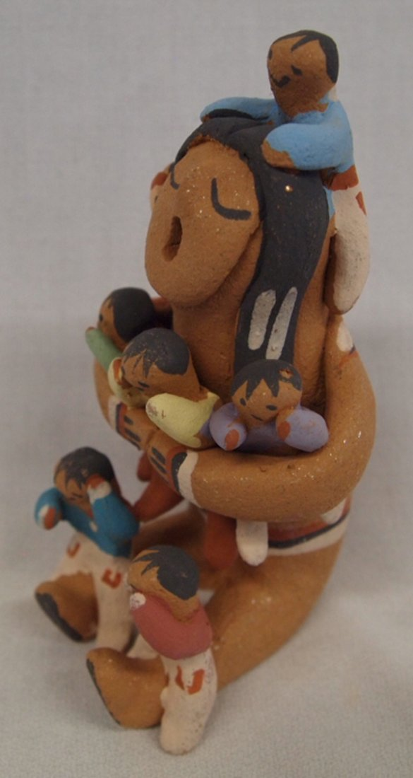 Taos Storyteller Pottery Doll by Juanita Martinez - 2