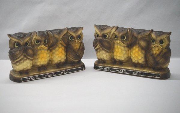 Speak No Evil, Hear No Evil, See No Evil Owl Banks
