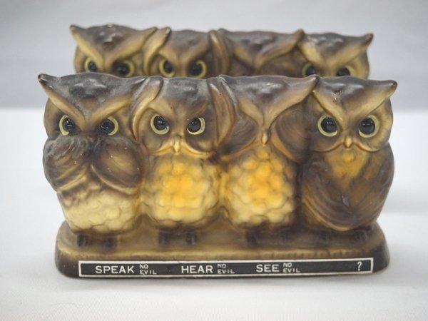 Speak No Evil, Hear No Evil, See No Evil Owl Banks - 2