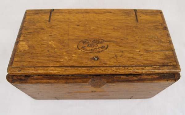 Antique Singer Sewing Machine Oak Puzzle Box, 1889
