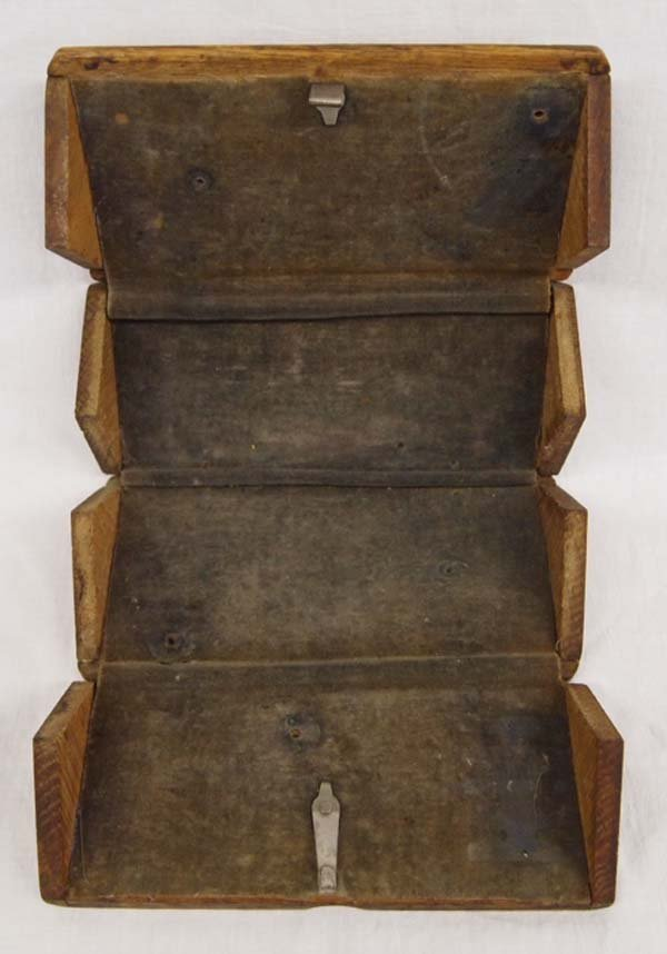 Antique Singer Sewing Machine Oak Puzzle Box, 1889 - 2