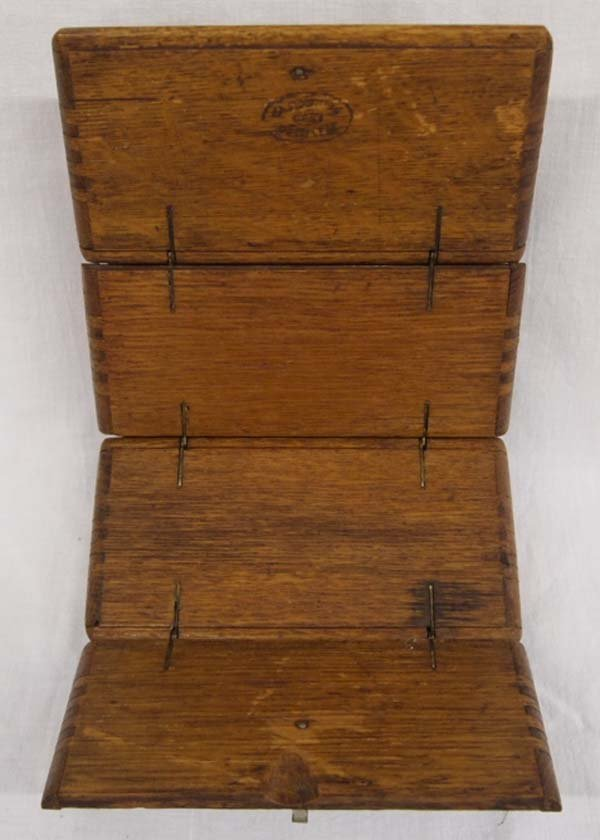 Antique Singer Sewing Machine Oak Puzzle Box, 1889 - 3