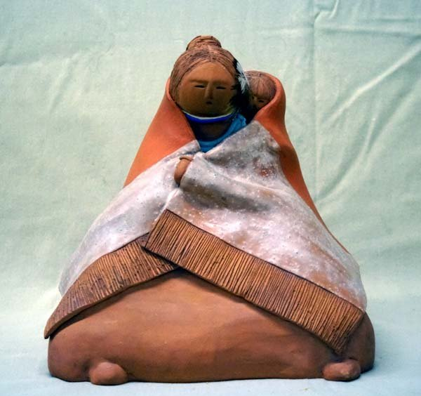 Esta Bain Hand Made Southwestern Clay Sculpture