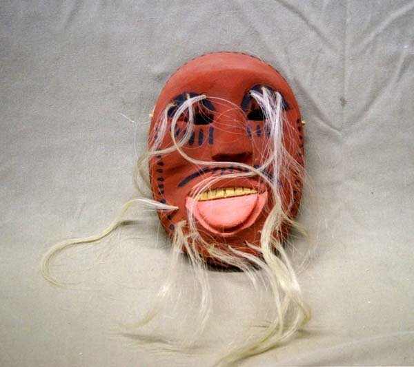San Bernardo Mexican Carved Wood Mask by Ramon Hurtado