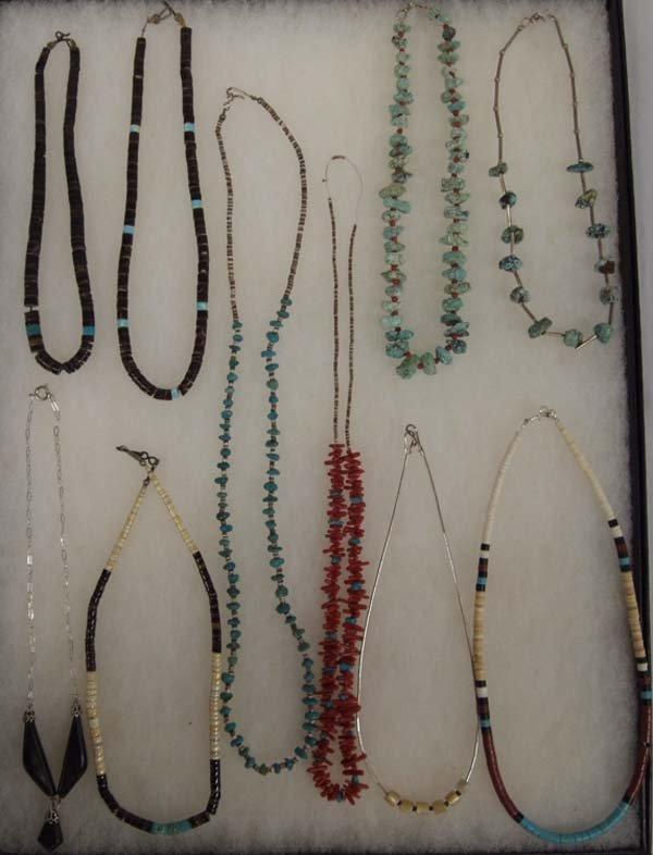 Collection of 10 Native American Pueblo Necklaces