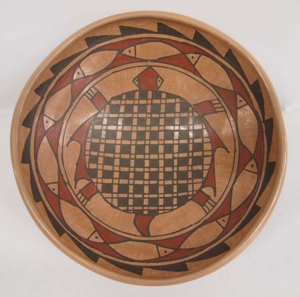 Mata Ortiz Polychrome Turtle Shallow Bowl by D Gonzalez
