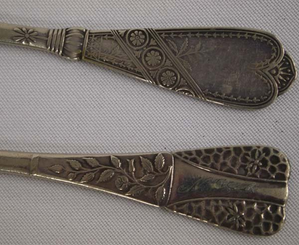 1880 Pairpoint  & 1847 Rogers Master Butter Knives - 2