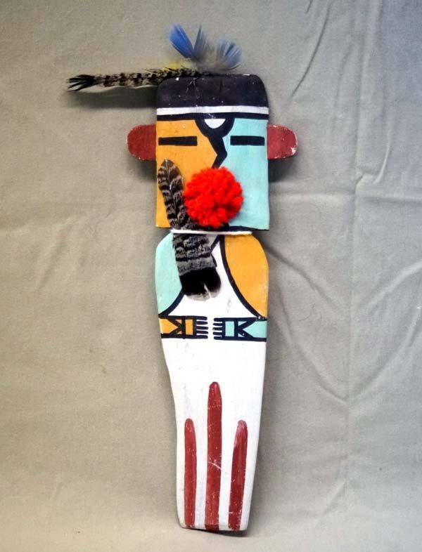 Hopi Carved Wooden Cradleboard Kachina