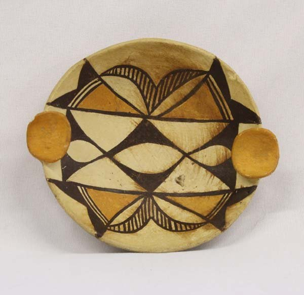 1950s Acoma Traditional Polychrome Shallow Plate